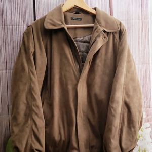 Claiborne Sueded Finish Brown Coat Jacket XL
